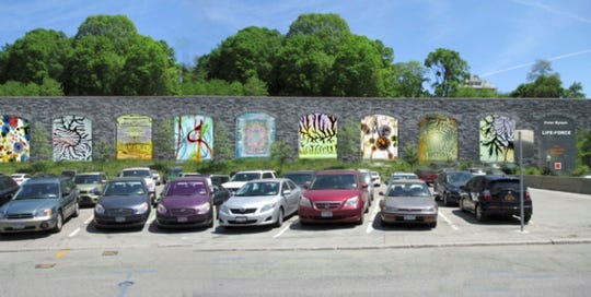 File photo of Peter Bynum's installation, LIFE, along the waterfront.