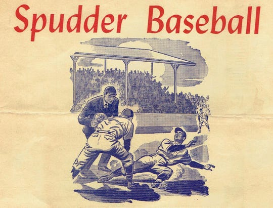 The cover of a program featuring the Wichita Falls Spudders.