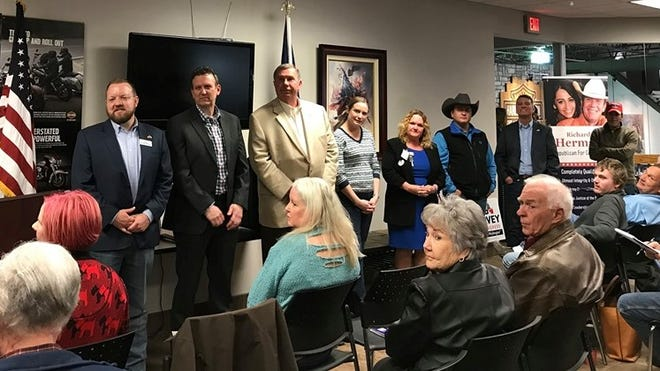 Eight candidates appear Thursday at the Wichita Falls Tea Party forum for 13th Congressional District Republican candidates. They are among the 15 Republicans running for the seat in the March 3 GOP primary.