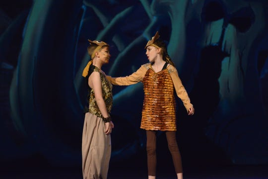 Young Nala (Kresee Maroney) and Young Simba (Elija Davis) in Disney The Lion King, Jr. opening at 1 p.m. Sat.today and 2:30 p.m. Sun., Feb. 23 and running through March 14 at the Wichita Theatre.