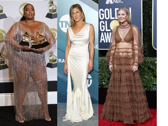 Return Of The Naked Dress Sheer Fashion Is Back On Red Carpets Runways