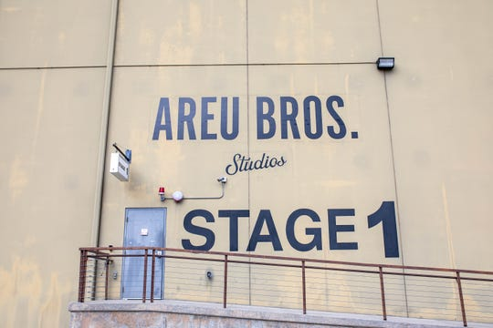 The door to Stage 1 on the Areu Bros. Studios is labeled.