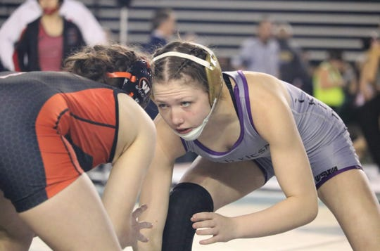 North Kitsap's Holly Beaudoin reached the championship round at Mat Classic on Saturday.