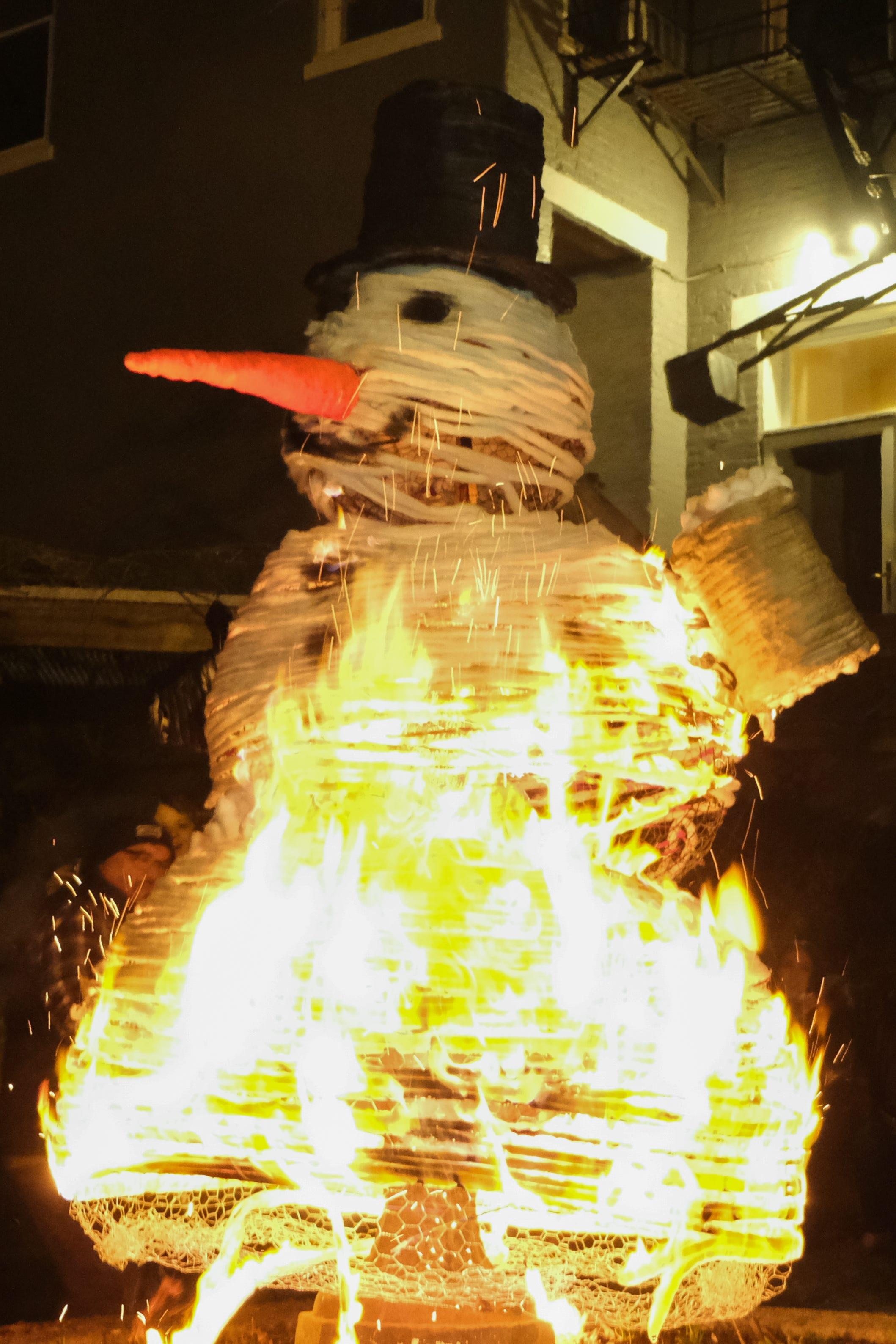 Burning of the Snowman for Bockfest