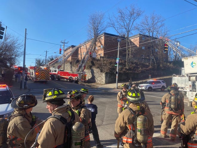 An apartment fire in East Price Hill required nearly 80 firefighters to respond Saturday morning.