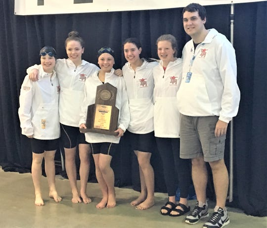 Dixie Heights finished fourth in the KHSAA girls swimming state tournament , Feb. 21, 2020.