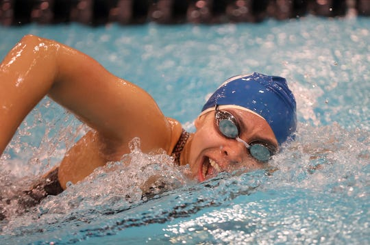 Wyoming's Mikaela Elliott finished sixth in the girls 500-yard Freestyle at the OHSAA Swimming and Diving Championships in Canton, Ohio, Friday, Feb. 21, 2020.