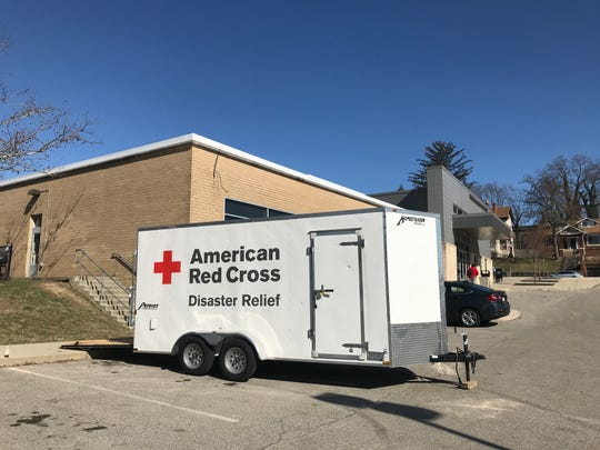 The American Red Cross is providing a shelter for those displaced by the fire in East Price Hill.