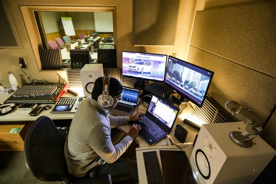 Jigar Kapadia is Cadillac's sound engineer. He is photographed working in the sound creation lab at the General Motors Proving Grounds on Friday in Milford.