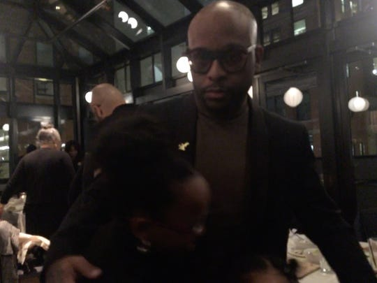 """Royce da 5'9"""" with his daughters at the Shinola Hotel on Feb. 21, 2020, for a dinner party celebrating """"The Allegory."""""""