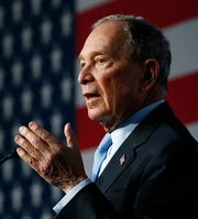 Democratic presidential candidate and former New York City Mayor Mike Bloomberg speaks during campaign event, Thursday, Feb. 20, 2020, in Salt Lake City.