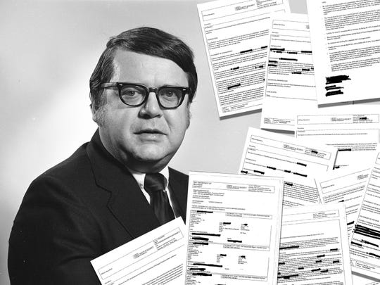 Dr. Robert E. Anderson is shown in an undated photo provided by the Bentley Historical Library at the University of Michigan. Also shown are documents obtained from the Washtenaw County Prosecutor's Office through a Freedom of Information Act request.
