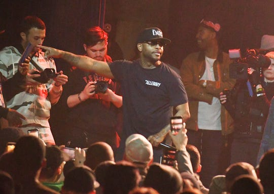 "Rapper and songwriter Royce da 5'9"", Ryan Montgomery, in concert at the Garden Theater in Detroit."