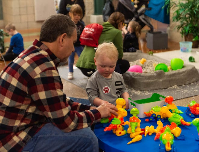 Children of all ages participated in the various interactive booths at New Tech Institute's STEM Fest program Saturday.