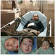 "This series of photos from a Facebook post show a Tucson, Arizona, boy who was seriously injured doing the ""Skull Breaker Challenge"" on video sharing site TikTok."