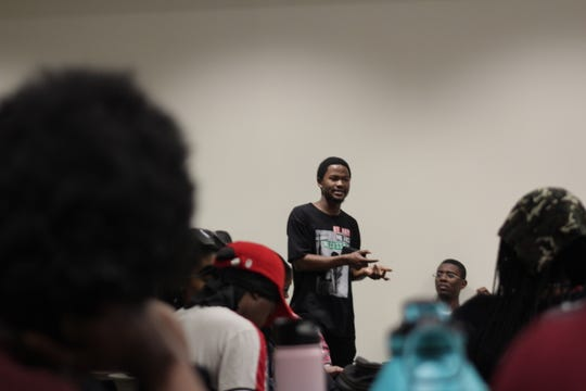 FSU Black Student Union members meet to discuss race, politics and social issues.