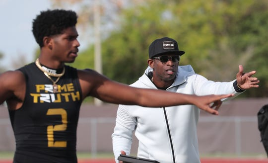 Deion Sanders hosted a 7-on-7 tournament at Dunbar High School. His Prime Truth team, made up of mostly local SWFL players, placed second over all.