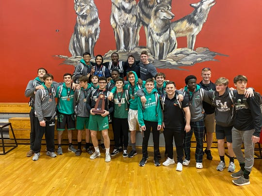 The Fort Myers High School wrestling team won the District 2A-11 team title by scoring 239 points Feb. 21, 2020 at South Fort Myers High.