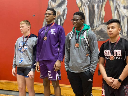 Cypress Lake High School's Aryeh Mehl beat Ida Baker's Trevor Shook by a 5-3 decision to win the 182-pound title at the District 2A-11 wrestling championships Feb. 21, 2020 at South Fort Myers High School.