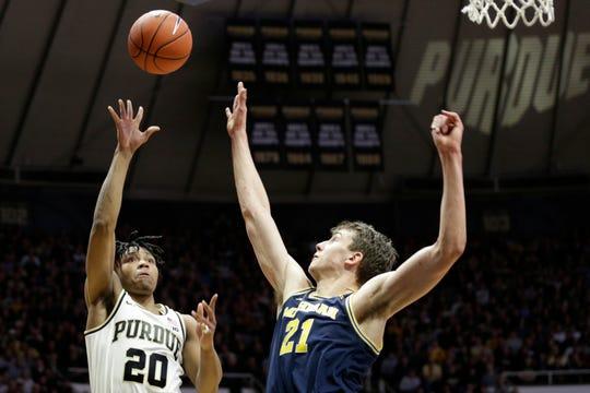 Former Purdue guard Nojel Eastern goes up for a shot against Michigan last season.