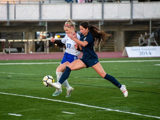 The St. Thomas More girls soccer team plays its semifinals game against Vandebilt Catholic Friday, Feb. 21, 2020.