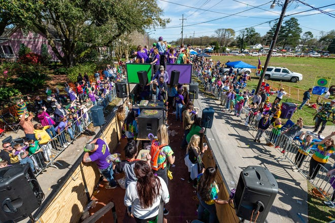 Perfect weather for the Youngsville Mardi Gras Parade.  Saturday, Feb. 22, 2020.