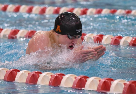 Ashland sophomore Rylan McDaniel finishes fifth in the 100 breaststroke