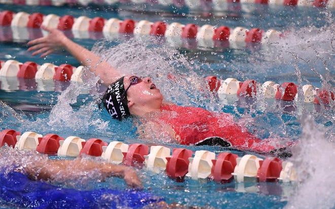 Lexington's Olivia Newman won the 50 freestyle with a time of 24.95 during the Oak Harbor Subway Invite.