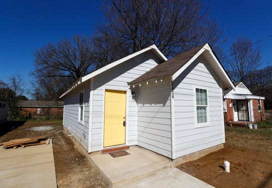 Dwayne Jones has completed work on two tiny homes, 480 square feet each, in the Orange Mound neighborhood.