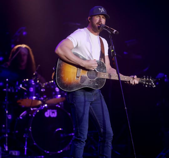 Riley Green performs at the CRS 2020 New Faces of Country Music event at the Omni Hotel Friday, February 21, 2020.