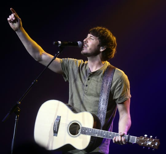 Morgan Evans performs at the CRS 2020 New Faces of Country Music event at the Omni Hotel Friday, February 21, 2020.