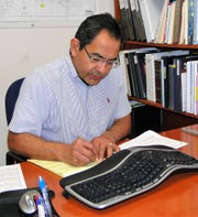Mario Puentes, gas business analyst for Las Cruces Utilities, monitors and adjusts the quantity of natural gas available to utility customers.