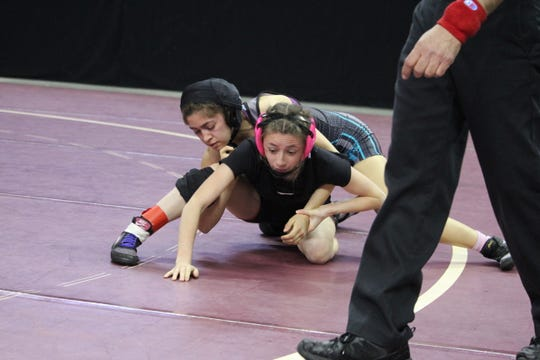 Oñate senior Angelita Altamirano reached the girls 100-pound semifinals at the state wrestling championships at the Santa Ana Star Center in Rio Rancho.