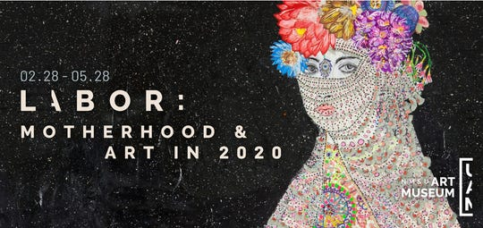 """María Berrío, """"Virgin & Child I,"""" mixed media on canvas. """"Labor: Motherhood & Art in 2020"""" opens New Mexico State University's new Art Museum at a reception at 6:30 p.m. followed by a site-specific performance by Jessica Jackson Hutchins at 7:15 p.m. Friday, Feb. 28 at the museum located inside NMSU's Devasthali Hall, 1308 E. University."""