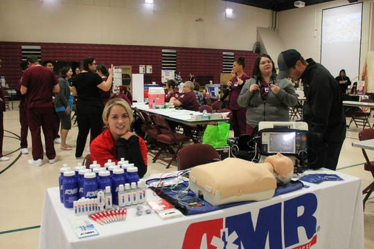 NMSU-A held its annual health fair Saturday there were almost 70 exhibitors including AMR Ambulance, Blue Cross/Blue Shield, Geralf Champion Regional Medical Center, Presbyterian Medical Services and more.
