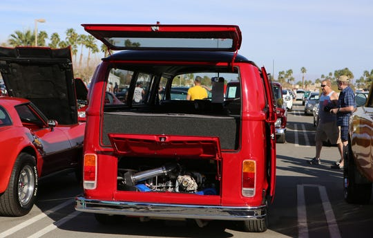 A 1973 Volkswagon Transporter is at the McCormick's Classic Car Auction in Palm Springs, Calif., on Friday, February 21, 2020.
