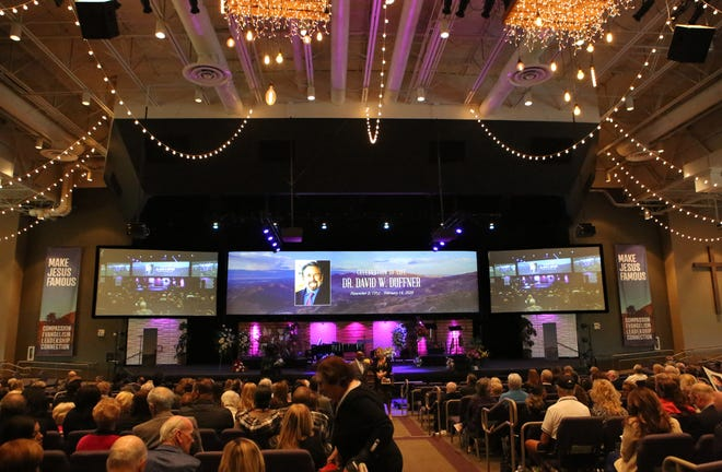 Hundreds of people attended the public funeral service for Dr. David Duffner at Southwest Church in Indian Wells, Calif., on February 22, 2020.
