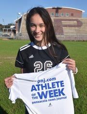 Athlete of the Week - Sophia Nguyen - Pensacola High School soccer player.