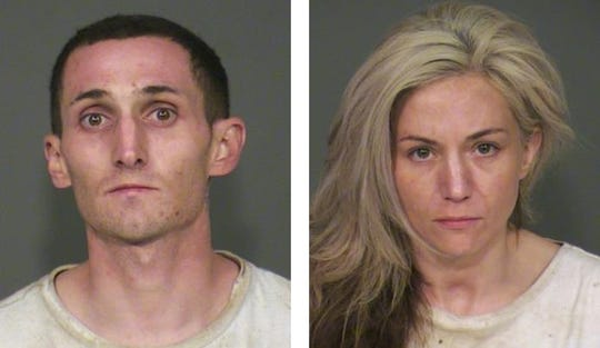 Christian Propst, 27, and Margo Barre, 35, were arrested ob suspicion of theft Feb. 18, 2020, in Chandler.