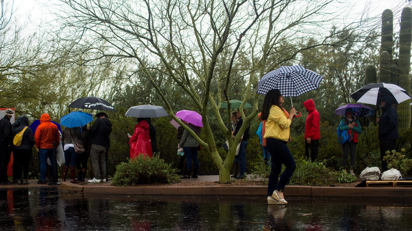 Valley pummeled with rain, Diamondbacks' first spring training game canceled