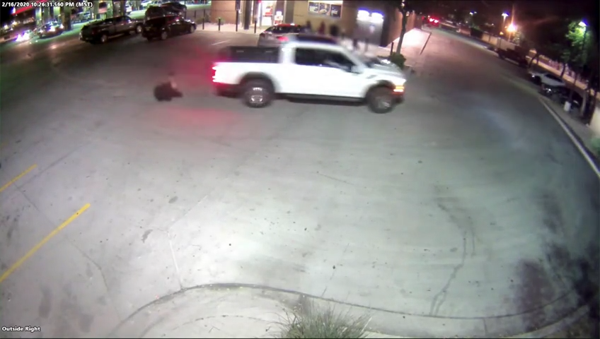 Phoenix police search for driver accused of hitting a man with his truck