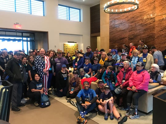 Around 40 surviving family members and friends of fallen police officers participated in the COPS Southwest Walk 2020 on Saturday, Feb. 22, 2020.