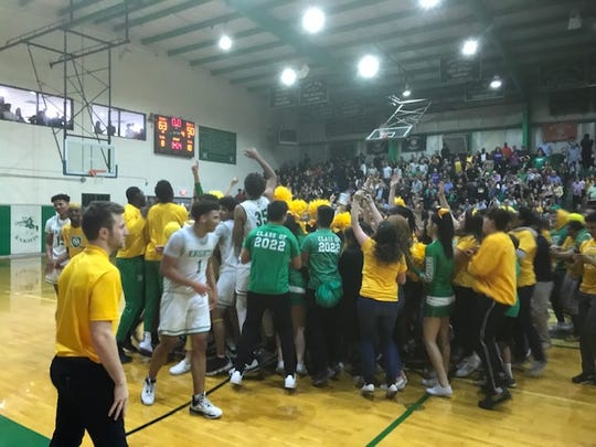 The scene after St. Mary's win.