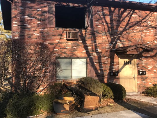 An occupant of Bridge Park Apartments died in an early morning fire Saturday. The second-floor apartment suffered extensive damage.