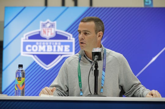 """Bills GM Brandon Beane looks at measurable numbers on each player, but he trusts his eyes more. """"I go back to the tape,'' he said."""