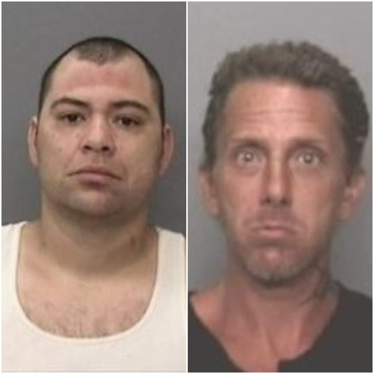 Michael Lopez Jr., left, and Christopher Reed are well-known to local law enforcement. Both have been previously released from the Shasta County Jail only to commit more crimes, police said.