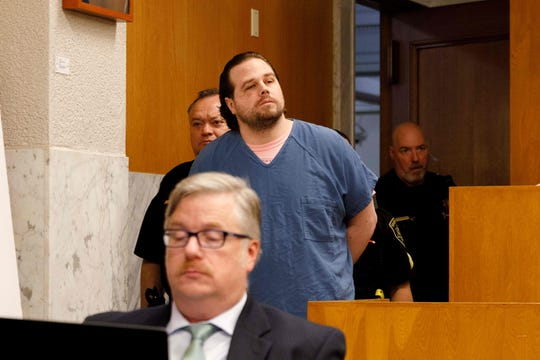 Jeremy Christian, 37 attends the opening arguments for his trial on January 28, 2020 in Portland, Oregon.