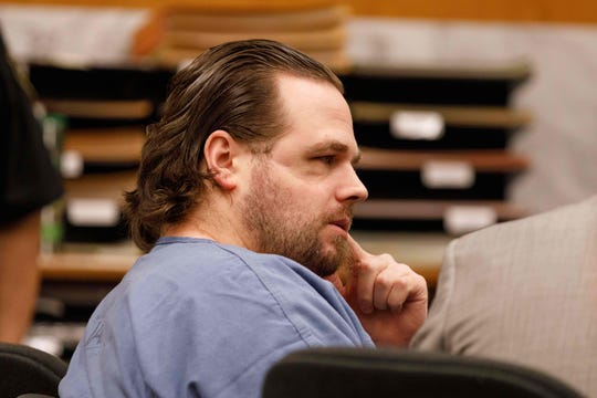 Jeremy Christian, 37 attends the jury selection for his trial on January 27, 2020 in Portland, Oregon.