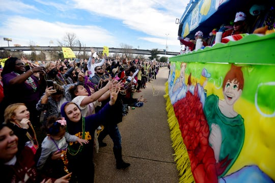 The Krewe of Gemini Parade Saturday afternoon, February 22, 2020.