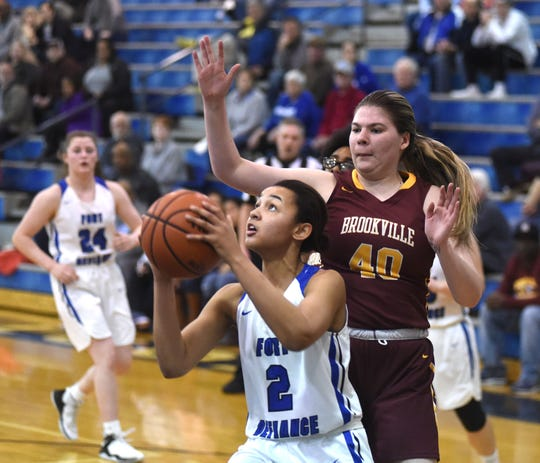 Fort Defiance's Kirby Ransome finished with a team-high 16 points as the Indians advanced to the Region 3C semifinals with a win over Brookville Friday in the Don Landes Gym.